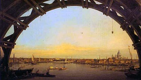 Canaletto London - Seen through an Arch of Westminster Bridge